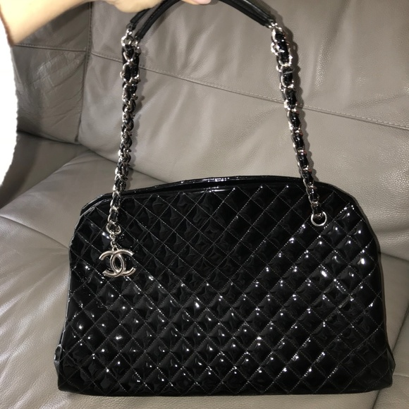 f7a6a565948c CHANEL Bags | Auth Just Mademoiselle Maxi Bowling Bag | Poshmark